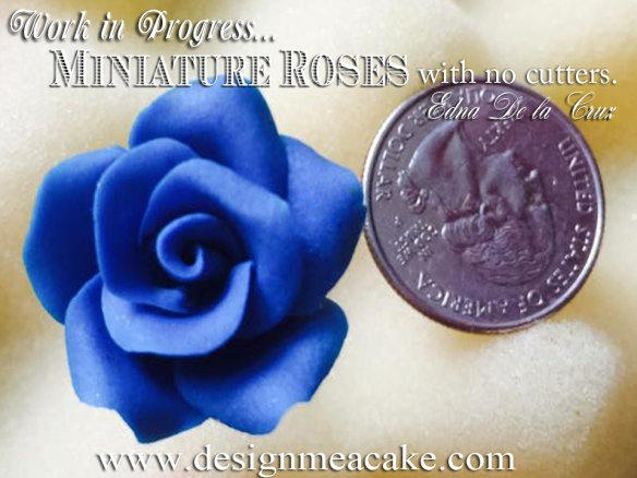 Miniature gumpaste rose.