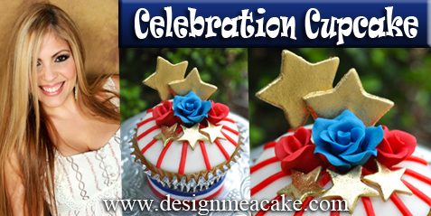 Celebration Cupcake=4th of July