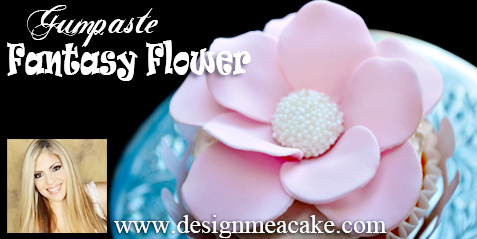 Cupcake Fantasy Flower in gumpaste.