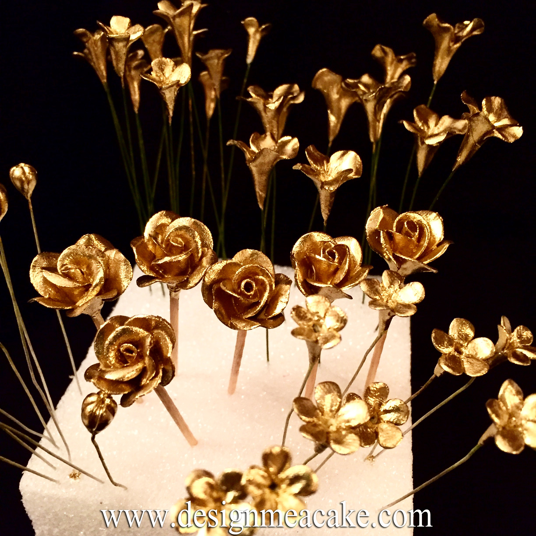Gumpaste flowers design me a cake miniature handmade gumpaste flowers izmirmasajfo