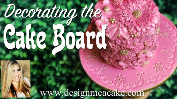 Decorating the Cake Board