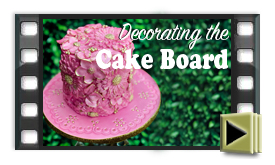 How to cover a cake board in fondant.