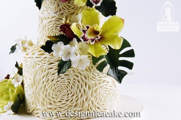 Easy Rosette Cake Design